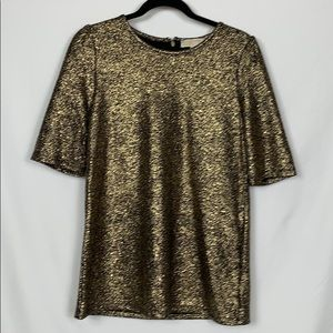 Micheal Kors gold and black top size Med.
